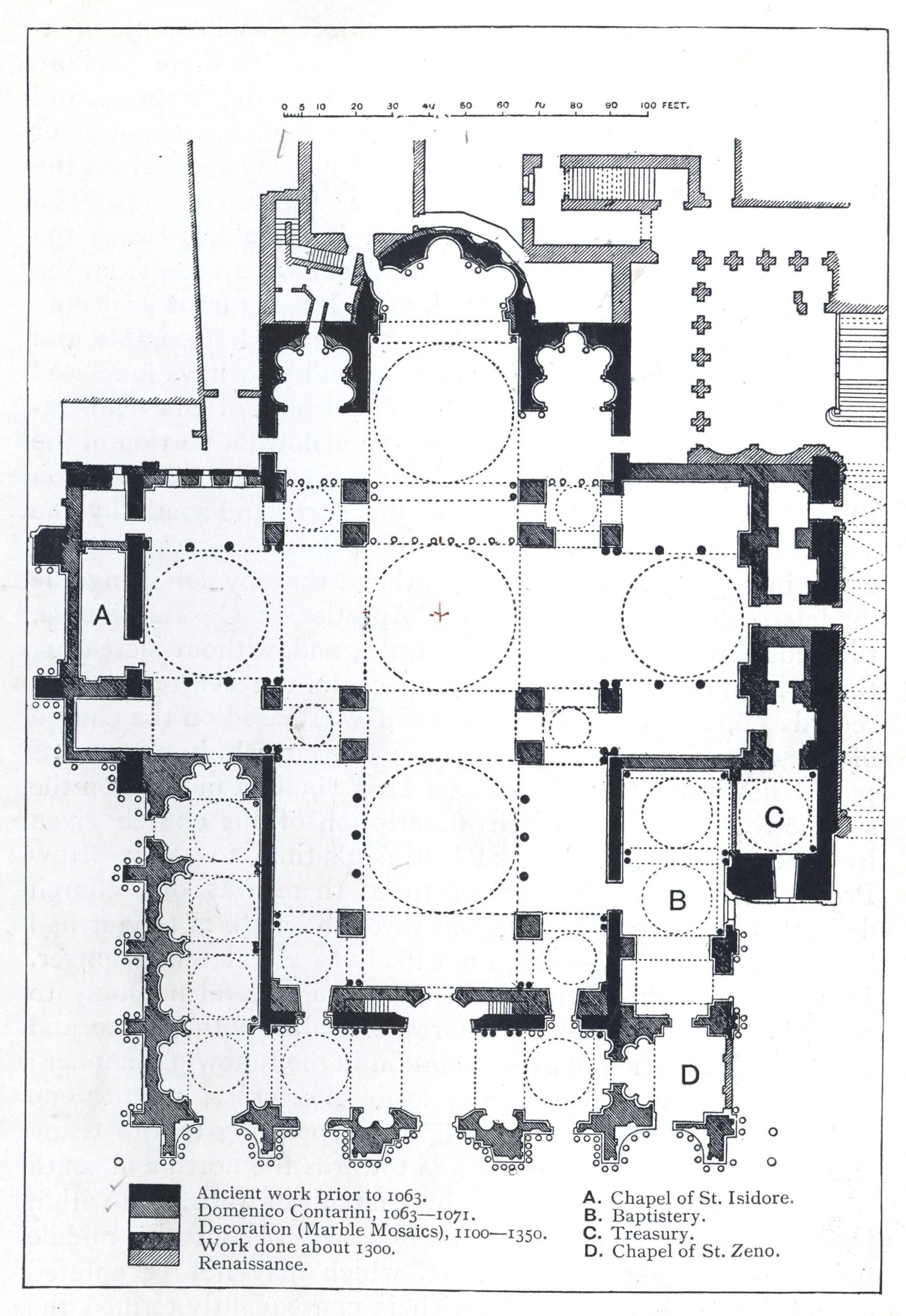 サンマルコ寺院 平面図 集中式