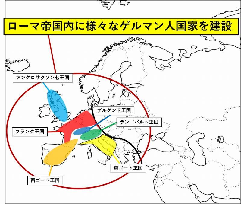 ゲルマン人 西ローマ帝国