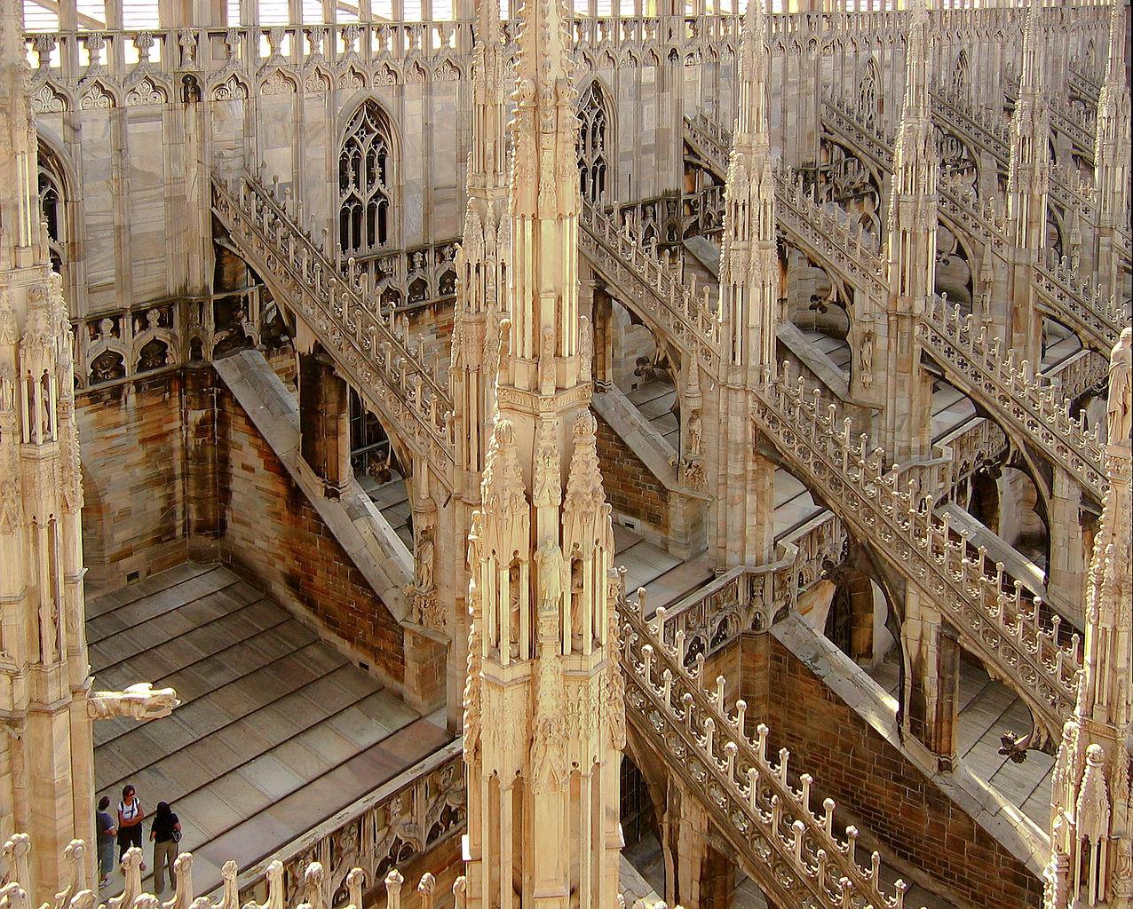 フライングバットレス ミラノ大聖堂(ドゥオモ)