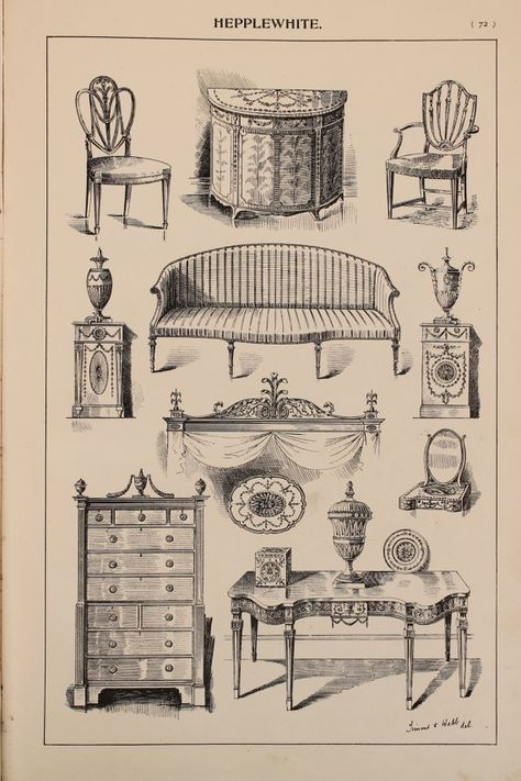 ヘップルホワイト スケッチ 家具
