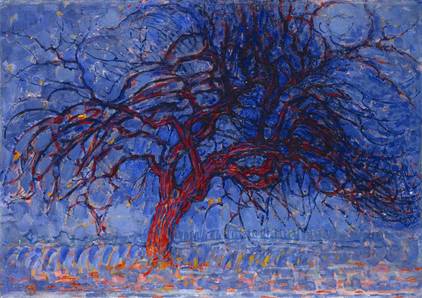 Evening,red tree