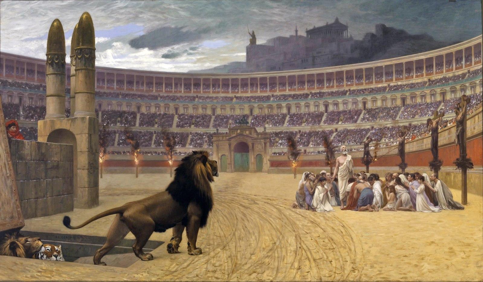 コロッセオ キリスト教 猛獣